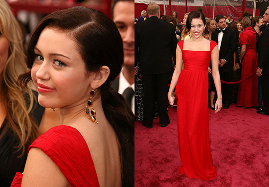 Oscars Red Carpet: Miley Cyrus