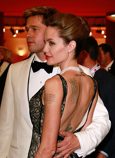 Angelina Jolie Khmer Tattoo