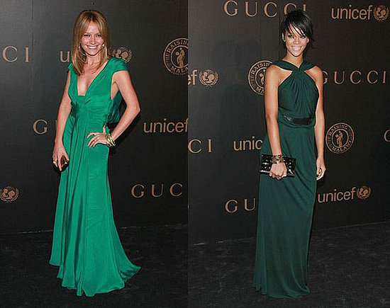sos rihanna green dress