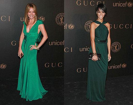 sos rihanna green dress
