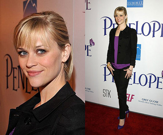 Reese Witherspoon · New York & Company Purple Tee ($17)