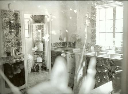 A picture of MM's kitchen, I'm assuming that it was taken through a window.