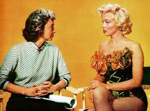 Marilyn and her drama coach Natasha Lytess.