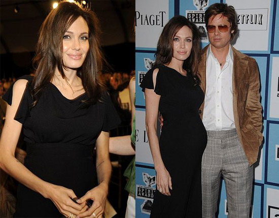 brad pitt and angelina jolie family. +rad+pitt+family+pictures