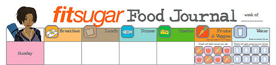 Free Downloadable Food and Fitness Journals – Food Journal Template Free