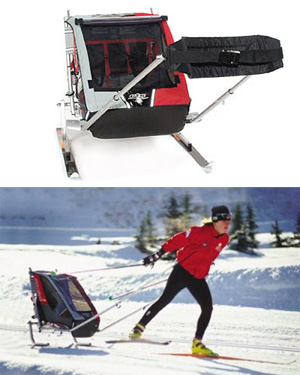 chariot child strollers allows you to ski with your kids. Black Bedroom Furniture Sets. Home Design Ideas