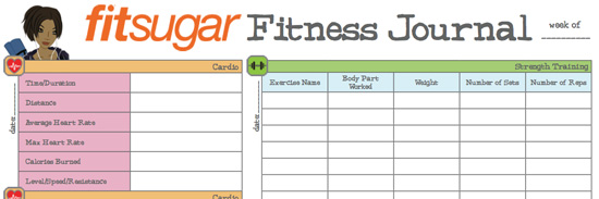 how to create a fitness journal