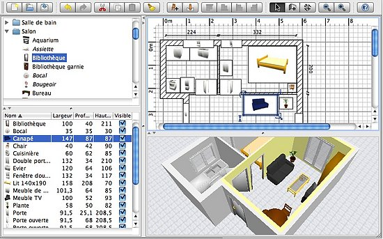 Download sweet home 3d to make virtual floorplan of your Interior design software online