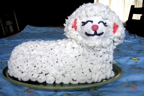 ... easter lamb cake ii recipe easter lamb cake easter lamb cake lamb cake