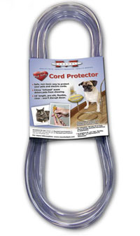 cord protectors keep your pets from getting shocked. Black Bedroom Furniture Sets. Home Design Ideas