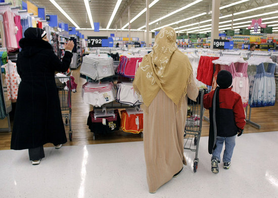 dime box muslim Wal-mart stocks falafel, olives and islamic greeting cards to attract dearborn's ethnic shoppers.