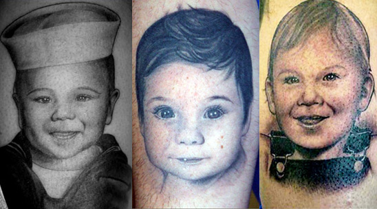 Whether the parent chooses a child 39s name or portrait to etch in their flesh