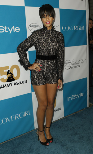 Last week, the Grammy winning starlet Rihanna rocked a black lace ...
