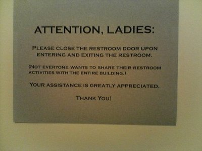 Office Bathroom Etiquette Signs Just B CAUSE