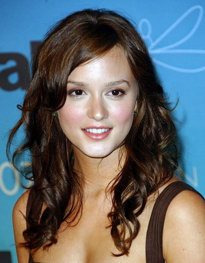 Leighton Meester Long Layered Hair style 2009
