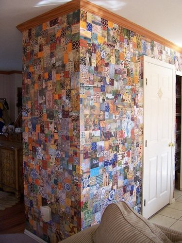 Ideas for a full wall collage in my bedroom? | Yahoo Answers