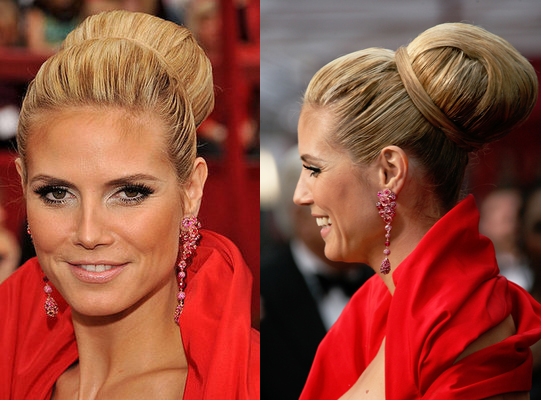 Heidi Klum Hair Styles: Heidi Klum At The Oscars: Hair And Makeup