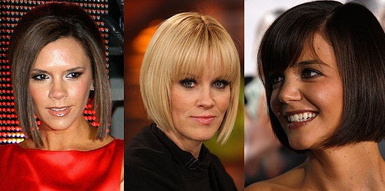 When Posh chopped her long locks into an angular platinum bob,