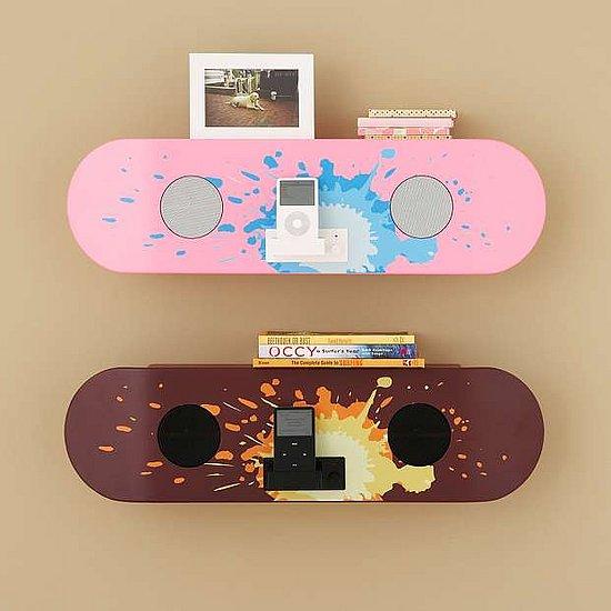 pottery barn skateboard speaker shelf popsugar tech. Black Bedroom Furniture Sets. Home Design Ideas