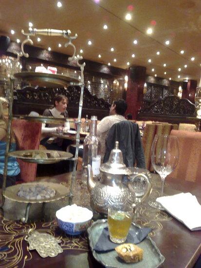Mint tea & Arabic sweets & Turkish Delights