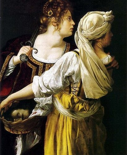 Judith and her Maidservant (1613-14), Palazzo Pitti, Florence, Italy