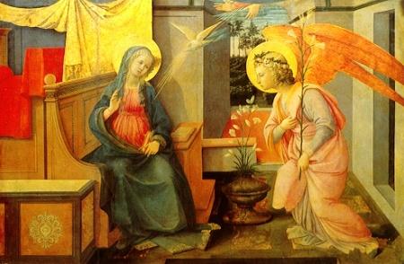 Annunciation, Filippo Lippi