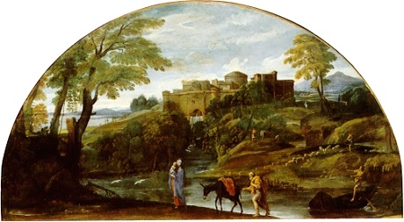 Landscape with the Flight into Egypt, Annibale Carracci
