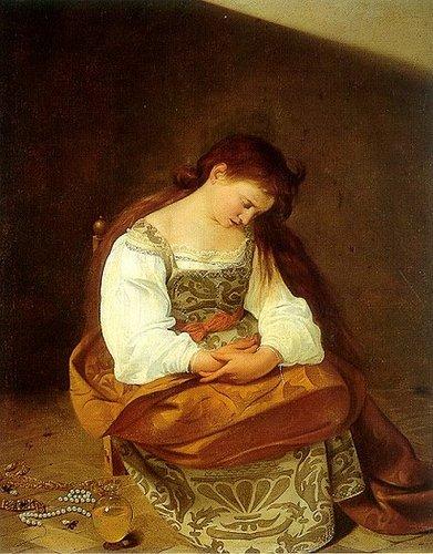 Repentant Magdalen, Caravaggio aka Michelangelo Merisi