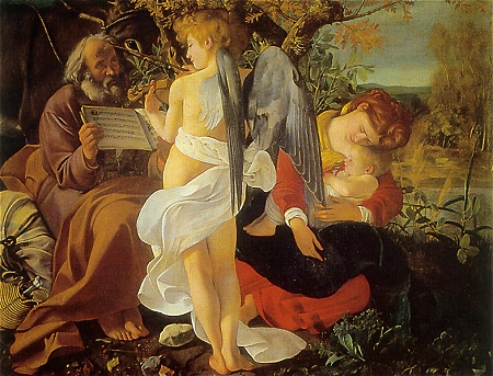 "Caravaggio's ""Rest during the Flight into Egypt"""