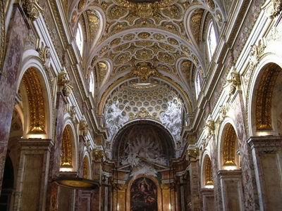 Interior of San Luigi dei Francesi, Rome, Italy
