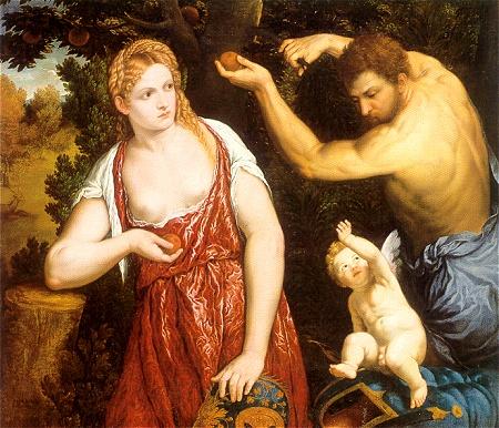Venus, Mars and Cupid by Paris Bordon