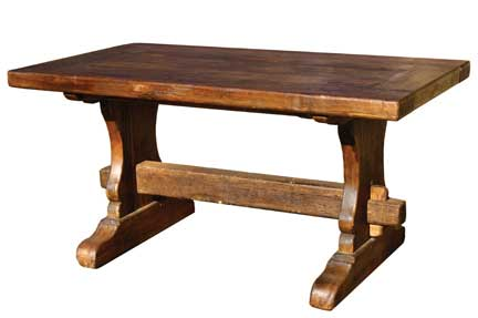 trestle dining table. End Dining Table ($895) as