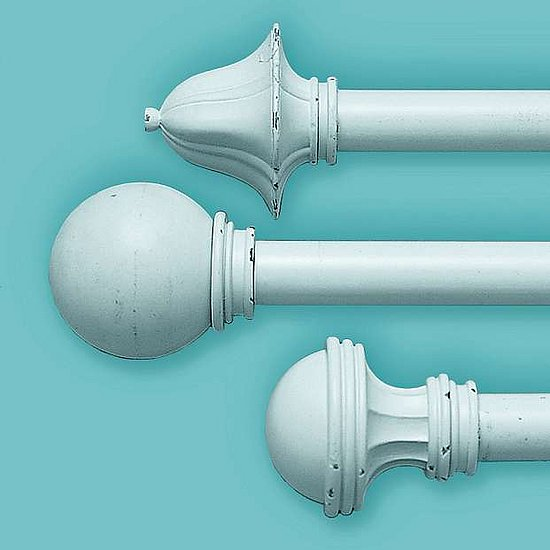 Steal of the day pbteen cast iron finials popsugar home - Shabby chic curtain poles ...