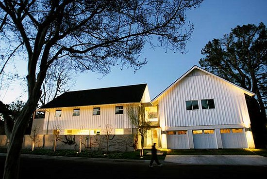 In the news modern design meets farmhouse popsugar home for Contemporary barn plans