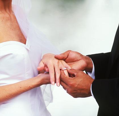 wedding rings wearing