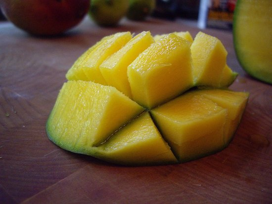 ... mangoes 2 limes 1 1/2 cups of store-bought ice cream 1/4 cup sugar