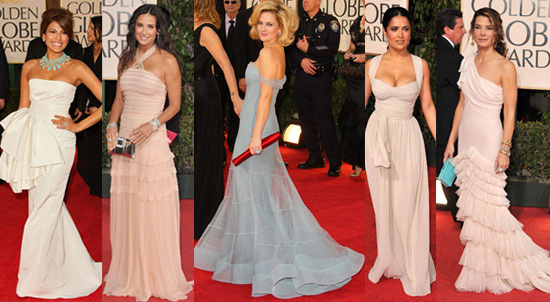 The dominant designer at this year's Golden Globes was Christian Dior.