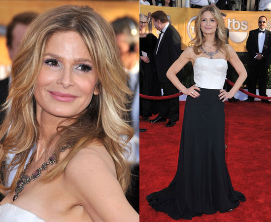 No much evidence in these before and after pictures of Kyra Sedgwick (image hosted by blogspot.com)