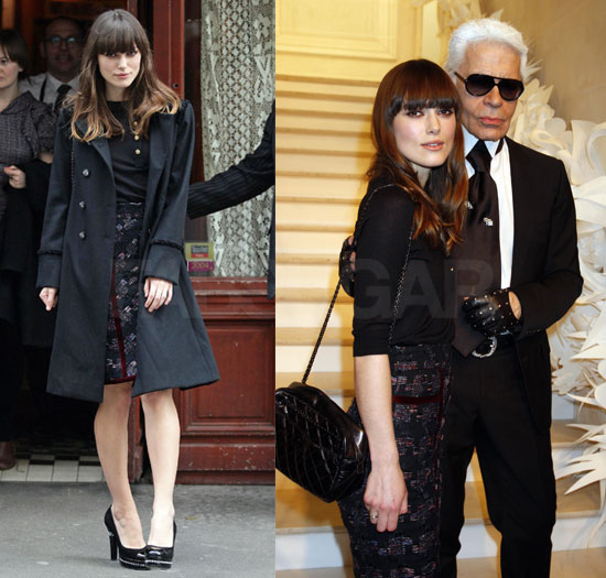 And, of course, Keira wore her black quilted Chanel bag.