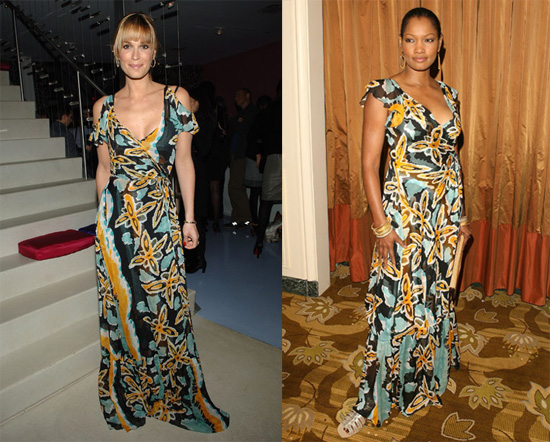 Garcelle Beauvais Nilon and Molly Sims in Diane von Furstenberg ...