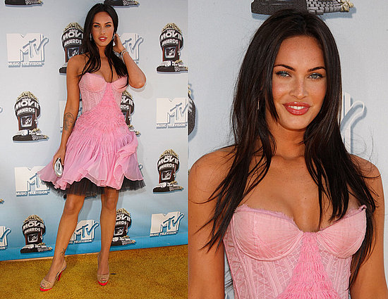 on Megan Fox#39;s pink frock.