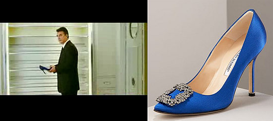 blue manolo blahnik sex and the city flats