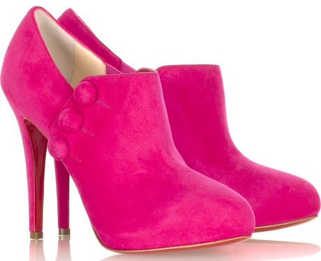 hot pink shoes. these hot-pink Christian