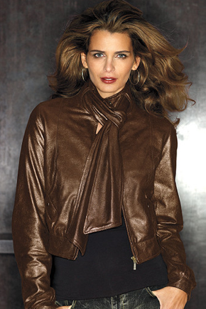 For Less: Mike & Chris Dusted Bronze Leather Jacket | POPSUGAR Fashion