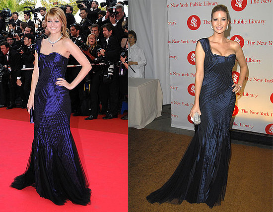 one shoulder dresses hairstyles. Ivanka wore Ferretti#39;s gown to