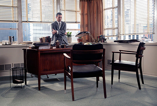 Get the Look: Draperu0026#39;s Dapper Desk Area on Mad Men : POPSUGAR Home