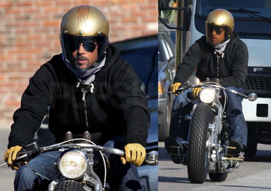 Brad Pitt Motorcycle. Brad Pitt#39;s Almost Anonymous,