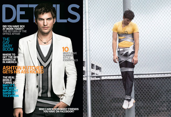 Ashton Kutcher on the May 2008 Cover of Details Magazine