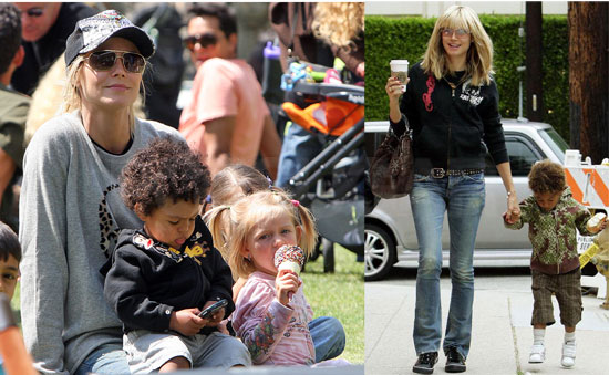 heidi klum children. hair Leni,4, is Heidi Klum#39