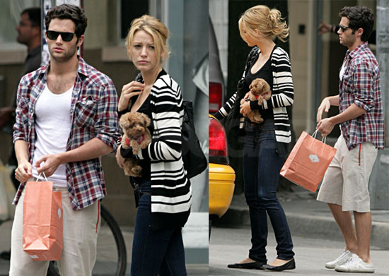 Penn Badgley and Blake Lively Out Shopping in NYC